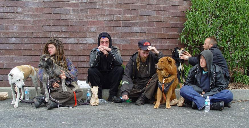 Homeless group by Franco Folini