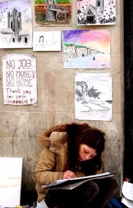street artist - homeless by Jax Murphy